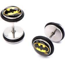 Pendientes falsos de Batman (concha)