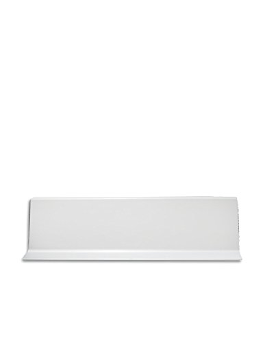 Jardin202 100mm alt. 3m larg. - Rodapie Aluminio Labio Inferior Blanco 3m