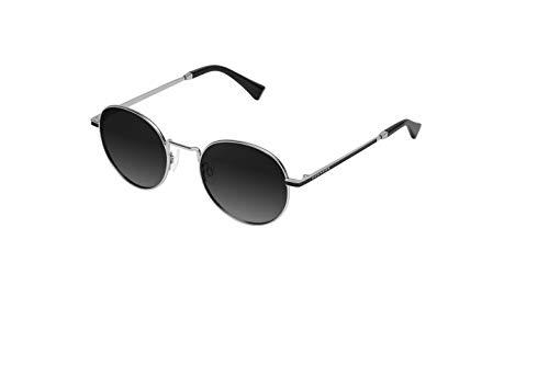 HAWKERS MOMA Gafas de Sol, Plata/Negro, One Size Unisex Adulto