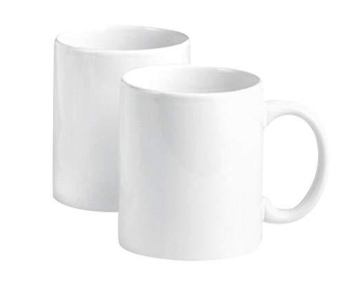 2er-Pack VBS Kaffebecher Kaffe-Tasse Porzellan weiß Pott Tee Küche Restaurant Tassen Becher