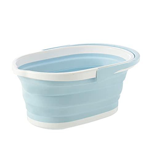Nesface Cubo de fregona plegable multifuncional Uso doméstico Inodoro portátil Lastics Cubo de almacenamiento grueso