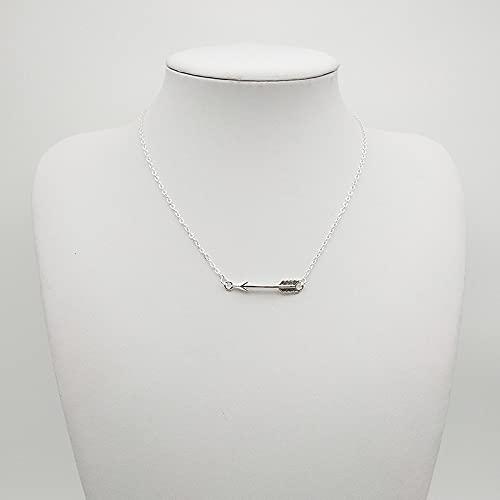 Collar Joyas Collar con Colgante De Flecha De Oro Simple Retro,Accesorios De Cadena De Clavícula para Fiesta De Mujer, Joyería De Moda para Mujer,