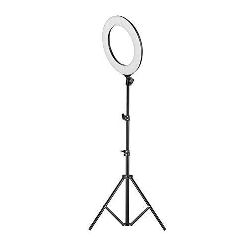 Anillo luminoso de LED portátil de 14 pulgadas LED Video Ring Light Studio Photography Lámpara RGB Color Lights With Trípode Basy BankExtensible para Video Fotografía