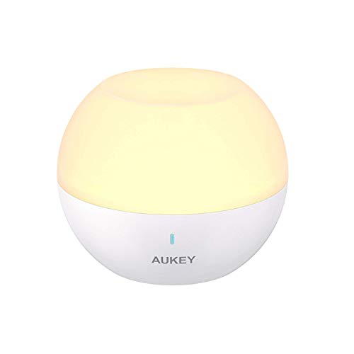 powerful AUKEY baby night light for children, RGB lighting that changes color and rechargeable bedside lamp that can be dimmed …
