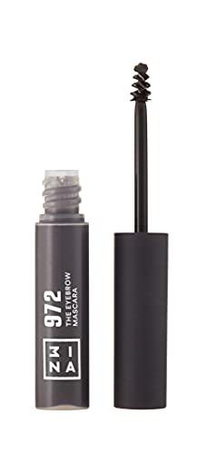 3INA MAKEUP - Vegano - Cruelty Free - The Eyebrow Mascara 972 - Mascara per Sopracciglia Lunga Durata - Formula in Gel - Non Appiccica - Grigio