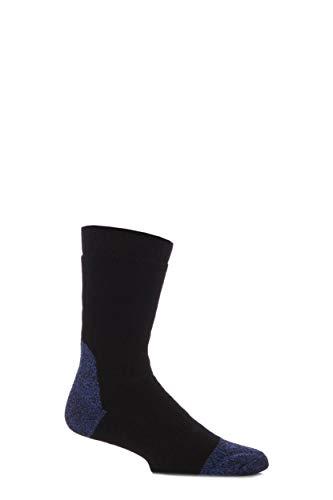 Workforce Herren 1 Paar Wadenlänge Stahl Sicherheit Socken in drei Farben - 7-11 Mens - Schwarz