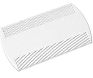 DDLBiz Peigne double ultra fin anti poux/lentes/puces avec étui Blanc (color1)