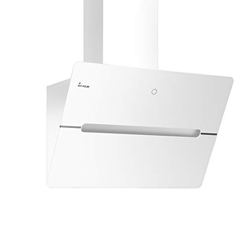 KKT KOLBE Kopffreie Dunstabzugshaube/Wandhaube / 60cm / Edelstahl/Weißes Glas/Extra-leise / 9 Stufen/LED-Beleuchtung/TouchSelect Sensortasten/Nachlaufautomatik / ECCO609W