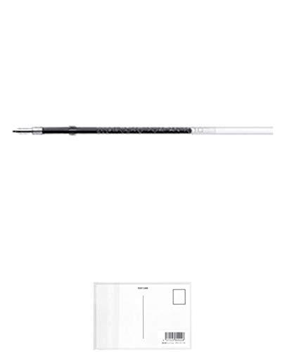 ゼブラ ボールペンリフィール CEK-0.7芯 RCEK7-BK 黒 【5本】 + 画材屋ドットコム ポストカードA