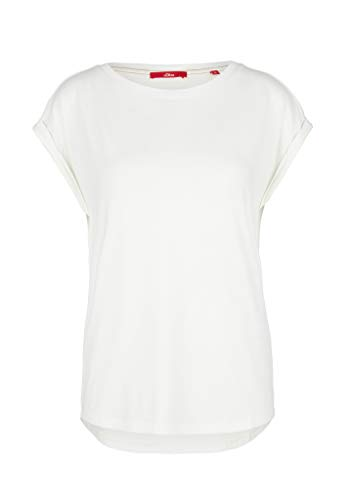 s.Oliver Damen T-Shirt, 0210 Cream, 40