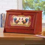 Sunflower Rooster Bread Storage Box