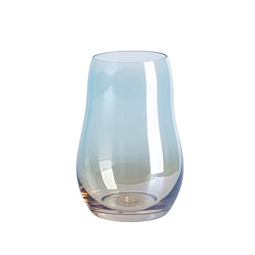Juego de 2 vasos de agua de colores con base pesada, vasos de cóctel, vasos de vaso, vasos de vidrio para jugo, juego de barware (tazas de 17 onzas)