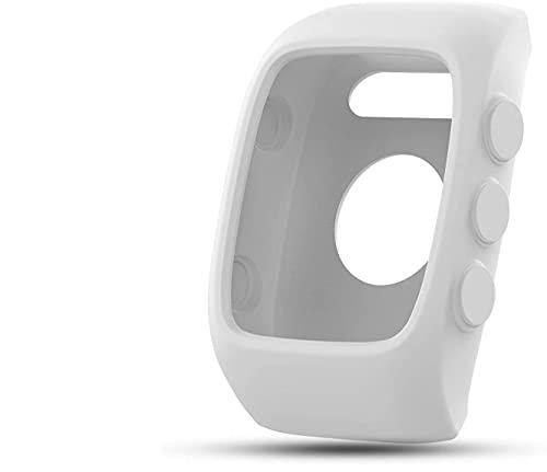 Saisiyiky Reloj reemplazo Banda Cubierta Protectora Manga, Silicona Protectora Bolsa para Unisex M400 / M430 Reloj GPS(Blanco)