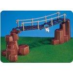 7272 - PLAYMOBIL - Hängebrücke mit Felsen rotbraun