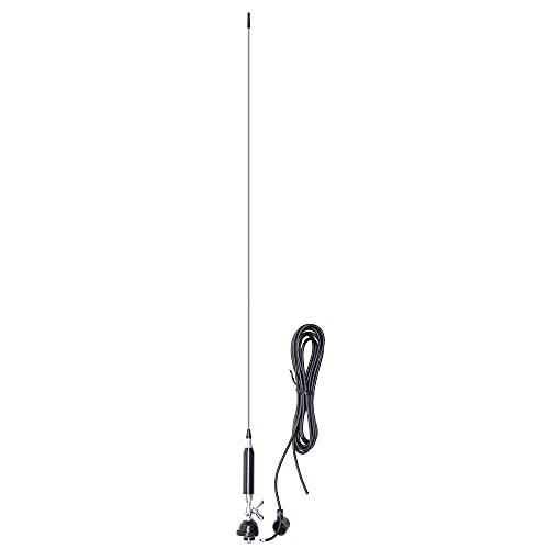 Antena CB PNI Vex900 con Mariposa, 100 cm, Cable RG58 de 4 m, 26-30 MHz, 150 W
