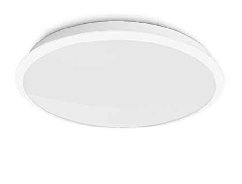 Philips Lighting 309413116 Denim Plafoniera LED, Bianco