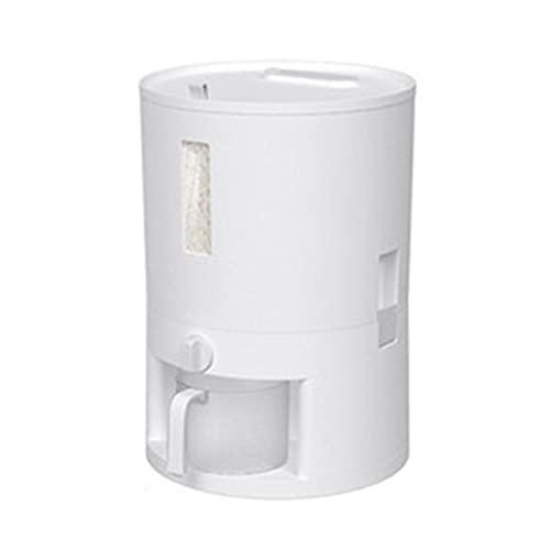Contenedor de Alimentos Dispensador de alimentos secos Dispensador de arroz hermético con taza de medición Recipientes de almacenamiento de alimentos grandes Dispensador automático de cereales - conte