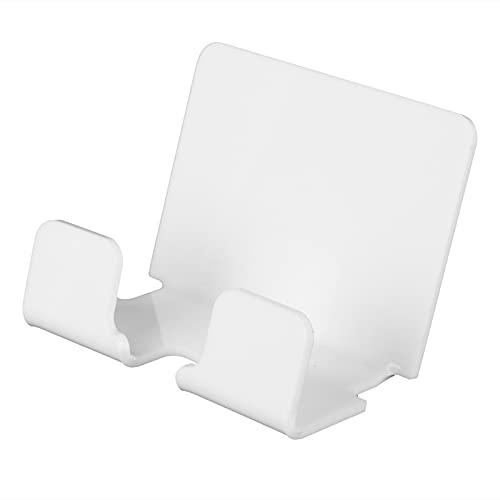 CjnJX-Vases Soporte para teléfono, Base de Carga para teléfono Inteligente, Soporte para teléfono Autoadhesivo montado en la Pared para Oficina, acrílico, Blanco, 3.3x2.4in