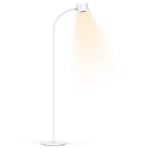 HENZIN Stehlampe LED Dimmbar 12W 800 Lumen,LED Stehleuchte Leselampe mit 3 Farbtemperaturen,Touch-Bedienung,Flexibler Schwanenhals,Leselampe Stehlampe für Wohnzimmer Schlafzimmer Büro, Weiß