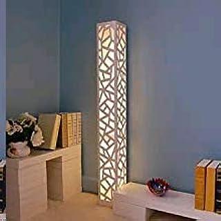 ELINKUME LED Lampadaires Moderne Sculpture Creuse Lampadaire Blanc Chaud PVC Bois Plaque en Plastique à Pédale AC220V Inté...