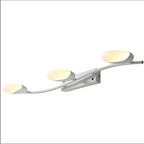 Luz De Espejo Led Moderna Lámpara De Pared con Luz Frontal De Espejo Minimalista Lámpara Giratoria para Tocador De Dormitorio De Baño (Color: Blanco, Tamaño: 302 Pulgadas)