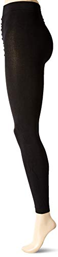 Hanes Silk Reflections Women's Plus Size Hanes Curves Footless Tights, Black, 1X/2X