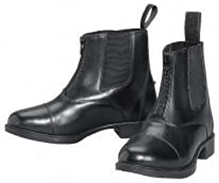 Lakeridge Sz. 2 Kids Zip Leather Like Paddock Boots Black