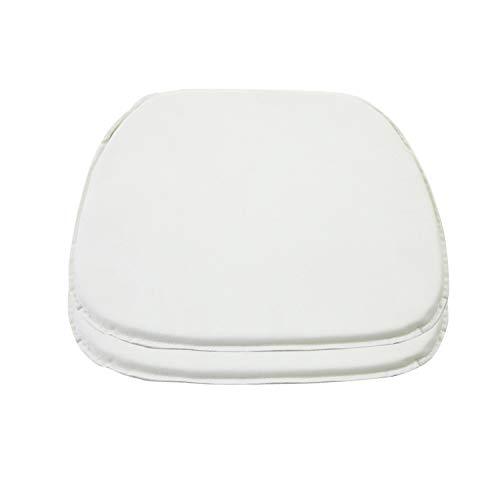 DORAFAIR Envoltorio de Asiento Cojines para Sillas, Juego de 2 Cojín de Cuero Estilo Simple, 38 x 39 x 2 cm, Blanco