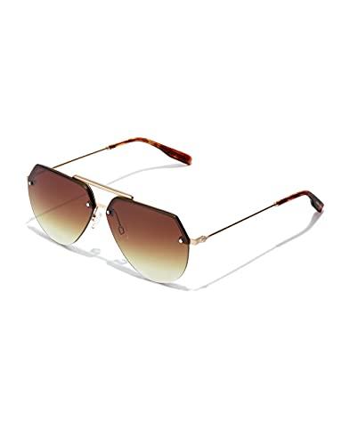 HAWKERS Cooper-Gold Smoky Brown Gafas de sol, Dorado/Carey, One Size Unisex Adulto
