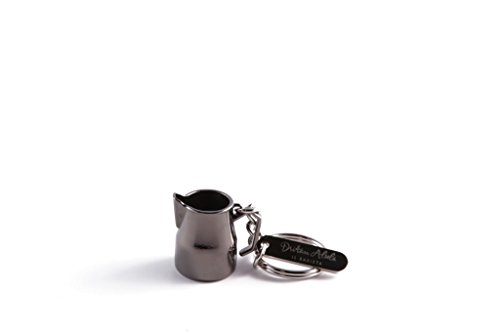 Dritan Alsela Portachiavi Bricchetto per Latte Grigio