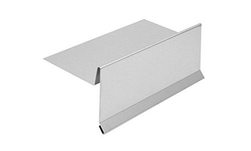 INEFA Ortblech ohne Wasserfalz Aluminium 200cm, 1 Stück - Kappleiste, Ortgangblech aus Alu, Zubehör für Gartenhaus, Dachrinne, Anschluss
