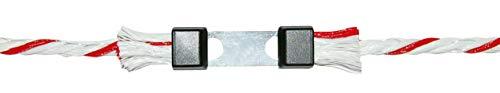 AKO Seilverbinder Litzclip 6mm, für Weidezaunseil - Edelstahl, 5 Stück-Einfache Verbindung von Weidezaunseil - Schnelles Reparieren von gerissenem Seil - Extrem zugfest und robust