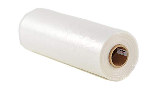 4 Rolls - Plastic Roll Bags for Fruits, Vegetable, Bread, Food Storage Clear Bags (18'x24')
