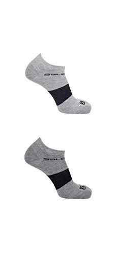 Salomon, 2 Paar Niedrig geschnittene Unisex-Socken, FESTIVAL 2-PACK, Baumwolle/Polyamid, Gr. S (36-38), Hellgrau/Grau, LC1127100