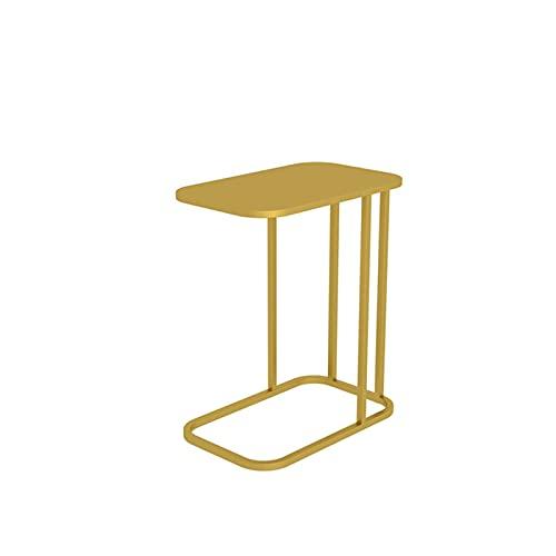 Table family Schmiedeeiserne Sofatabelle, Rechteckige Beistelltisch Home Schreibtisch Wohnzimmer Schlafzimmer Nachttisch, 50 * 30 * 58 cm(Size:50 * 30 * 58CM,Color:Gold)