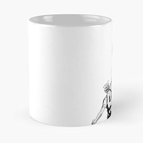 Haikyuu!, Bokuto, Fukudorani'S Ace, Hey Hey Hey Hey – La mejor taza soporta la mano de cerámica de mármol blanco