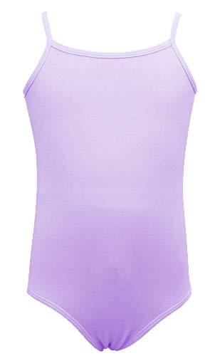 Dancina Girls Lavender Leotard Camisole - Sleeveless Athletic Motionwear for Ballet Recital 10 Lavender
