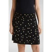 Esprit Maternity Skirt Jersey Utb AOP Gonna, Nero (Black 001), S Donna