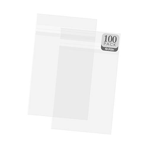 """Golden State Art, 100 Pack Clear Bags for Mats, Pictures, Acid-Free, 4-3/4"""" x 6-1/2"""""""