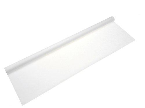 Tischtuchrolle aus Papier, 10 m lang und 1 m breit, weiß - Damasttischtuchrolle