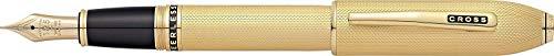 Cross Peerless - Pluma estilográfica, medio, color oro
