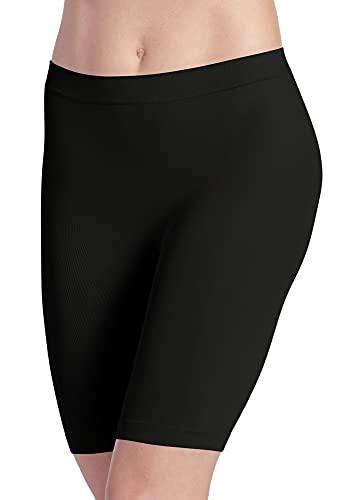 Jockey Women's Skimmies Slipshort Black Boy Shorts LG