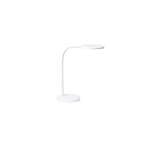 LEDデスクライト おしゃれ 学習机 LED 目に優しい 調光機能付き 卓上ライト フレキシブルアーム 面発光 ラウンド 昼白色