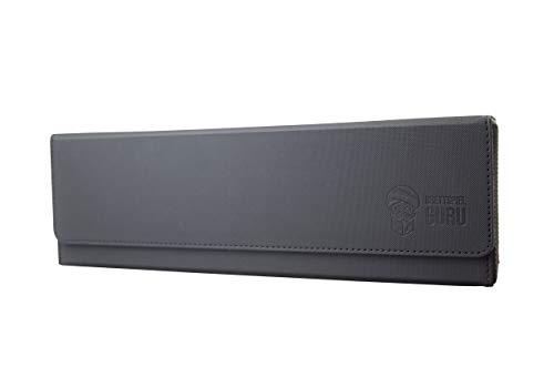 BRETTSPIELGURU Kartenbox - Deck Box - Flip Case 450+ mit herausnehmbarer Box, schwarz