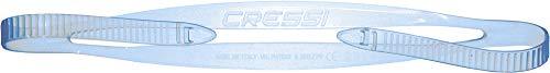 Cressi Swim Eyewear Silicone Strap + Loop Correa con Cierre para Gafas de natación, Unisex Adulto, Azul, Talla única