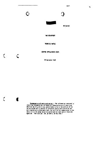 TM 30-215 Counter Intelligence Corps 1943 (English Edition)