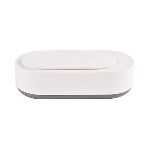 DAND Ultraschallreiniger Tragbar,450ml Ultraschallreinigungsgerät Brille Brillenreinigungsgerät Mini Ultraschall Reiniger für Schmuck Ohrringe Coins Ringe Halsketten Zahnprothese,White
