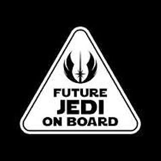 Chase Grace Studio Future Jedi On Board Star Wars Baby Vinyl Decal Sticker|White|Cars Trucks Vans SUV|5