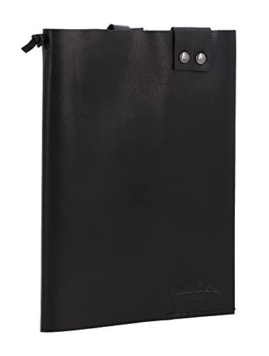 Gusti Gaston - Funda de piel para documentos (formato DIN), color negro