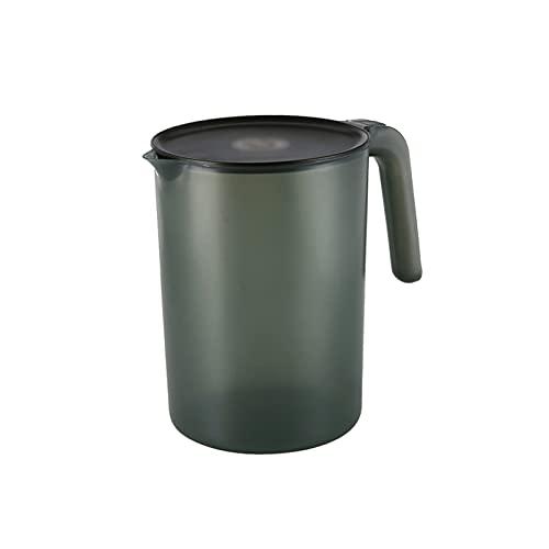 Jarra de Agua Botella de agua plástica de gran capacidad con línea de graduación Tetera resistente a la temperatura con mango Jugo de lanzador simple Juguete Jarras ( Color : Green , Size : Small )